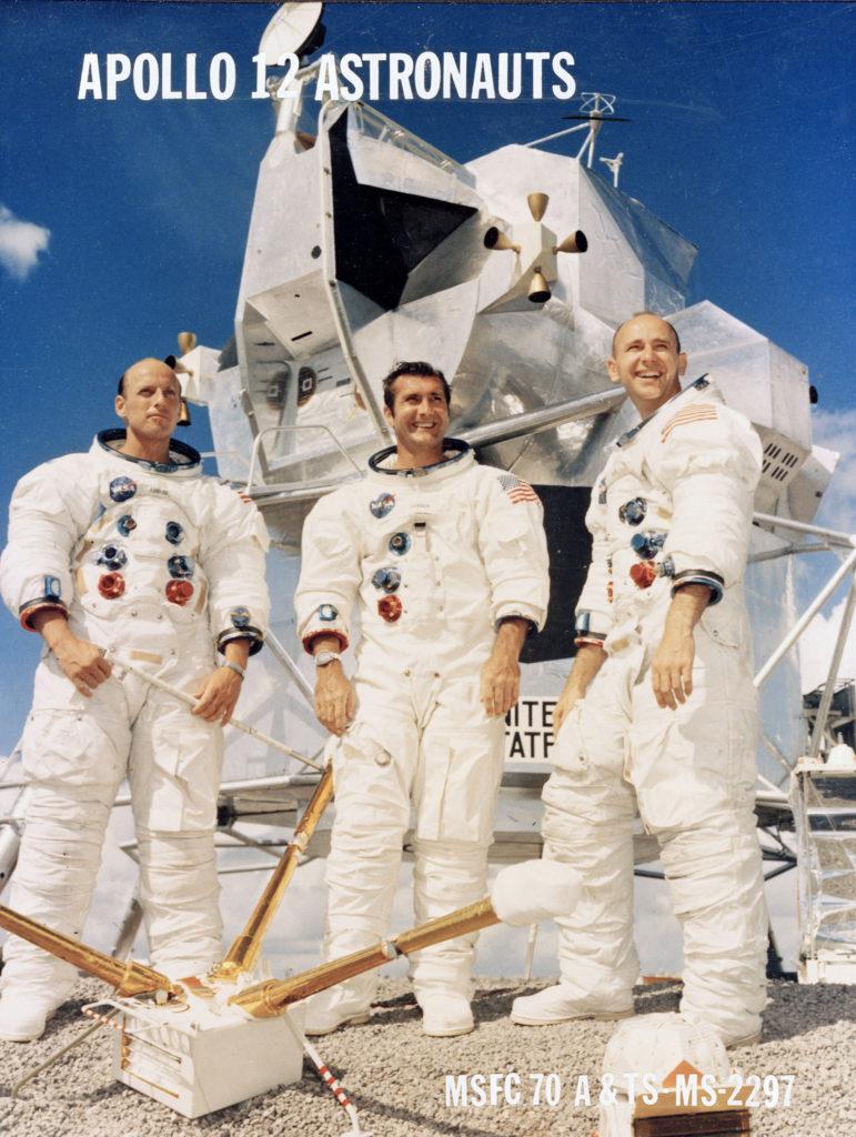 The Apollo 12 three-man crew