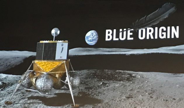 Moonlander Blue Moon von Blue Origin, Spaceunternehmen von Jeff Bezos