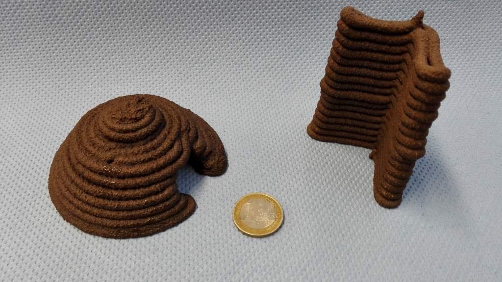 Beispiel für 3D gedrucktes Regolith aus einer Studie der Europäischen Weltraumorganisation (ESA)
