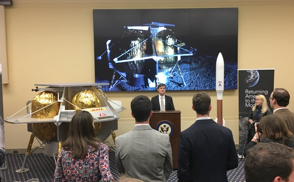 Astrobotic CEO John Thornton speaks at a Capitol Hill